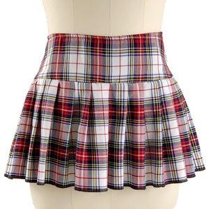 Tripp NYC Plaid Mini Skirt Pleated Red White